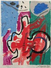CORNEILLE (1922-2010) / ABSTRACTIE / KLEURLITHO / 30x21cm / SIG / 1991