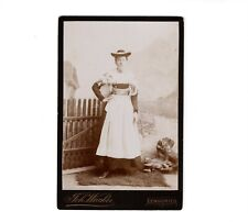 CAB Foto Feine Dame in Tracht - Lenggries 1890er