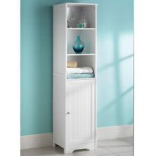 A Brand New White Wood Tall Boy Bathroom Storage Bathroom Furniture Cabinet Unit