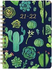 2021 2022 Weekly Amp Monthly Planner 63 X 84 Blue With Tabs Pocket Hardcover