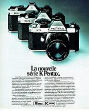 Publicité Advertising 088  1975   nouvelle gamme appareils photo série K  Pentax