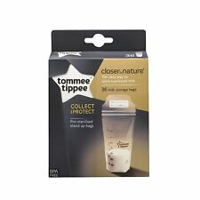 Tommee Tippee Closer to Nature Breast Milk Storage Bags - 36 Bags