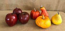 Lot Artificial Fruit Faux Fake Realistic Apples Pear pumpkin food centerpiece