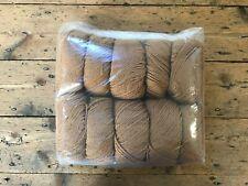 10 x 50g Ball, 100% Wool, TAWNY BROWN, 500g pack
