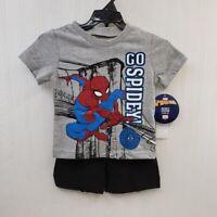 2T infant boy toddler Spiderman short set