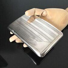 Etui Ancien Argent Massif 1920 Cigarettes 158 g BOITE Art Déco Solid Silver Box