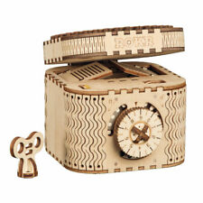 ROKR Treasure Box 3D Wooden Puzzle Mechanical Model Building Kits Gear Toy Adult