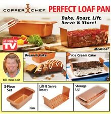 "Perfect Loaf Pans Copper Chef 9"" - 2 Baking Pans with Lids 6-Pieces Cookware Set"