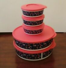 New TUPPERWARE Collection 10 pc Floral Serving Bowls