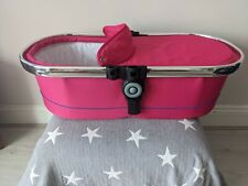 iCANDY PEACH 3 Bubblegum pink CARRYCOT BASSINET with APRON and MATTRESS