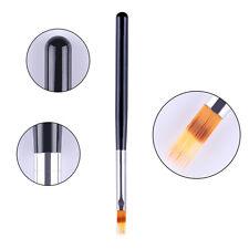 UV Gel Brush Nail Painting Drawing Pen Liner Flat Nail Art Display Tool Mnicure