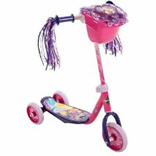 Huffy Disney Princess Girls Kids Toddler Preschool 3 Wheel Scooter with Basket