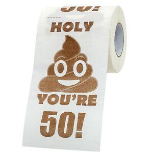 Happy 50th Birthday Toilet Paper  - Funny Novelty Gag Joke - Holy Crap!