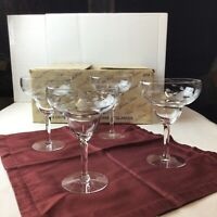 PRINCESS HOUSE #479 Set of 4 Margarita Crystal Glasses Heritage Cocktail Dessert