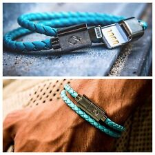 Iphone Lightning Cable USB Genuine Leather  Bracelet Charger (water Resistant)