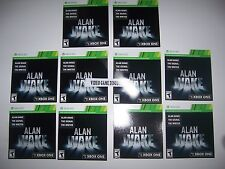 Qty 10 - WHOLESALE DLC CODES Xbox Box 360 XB360 - Alan Awake Game