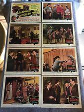 "BLAZING THE WESTERN TRAIL 1945 ORIG. LOBBY CARD SET 11""x14"" (VG+) STARRETT RARE"