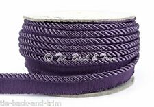 7020 Silky 6mm Flanged Rope Piping Upholstery Insertion Cord - 20m BULK Spool 475 Grape