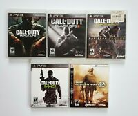 PS3 Call of Duty 5 Game Lot Modern Warfare 2 MW3 Black Ops 1 2 Advanced Warfare
