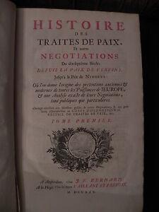 Saint Prest Histoire Traites paix 1725 2 vol folio storia XVII sec. diplomazia
