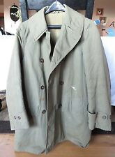 VTG 50s Men's US MILITARY Wool Lined COTTON Cold Weather JACKET COAT