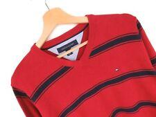 rp2610 TOMMY HILFIGER Jersey Suéter Original Premium Vintage Descolorido ROJO