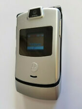 Motorola Razr V3m Silver Verizon Prepaid Page Plus Cellular Flip Phone