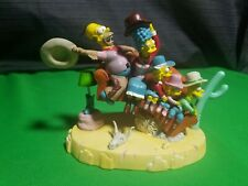 """Hamilton Collection The Simpsons Couch Gags """"Couch Rodeo"""" Statue Sculpture"""