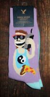 MENS AMERICAN EAGLE PIZZA YING YANG CREW SOCKS ONE SIZE