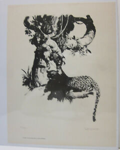 Burroughs Portfolio Print Jeff Jones Signed and Numbered Print #39/500