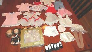 Vintage LOT Madame Alexander Vogue 1950s Doll Clothes Shoes Littlest Angel