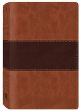KJV Study Bible Two-Tone Brown Imitation Leather, Very Good Condition Book, Comp
