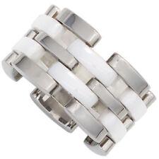 Modeschmuck-Ringe ohne Stein (19,7 mm) Edelstahl-Ø in Größe 62