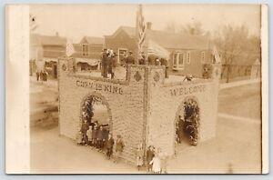 Lamberton MN How Do You Like the Corn Palace? Band Plays: Corn is King 1909 RPPC