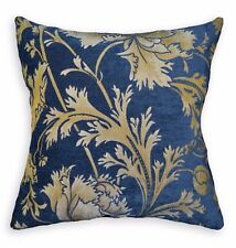 We+Turquoise Blue Mauve Grey Flower Cotton Cushion Cover/Pillow Case Custom Size
