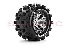"""Louise RC 1/10 MT Mcross 2.8"""" tires 12mm hex 1/2 Offset wheels 2pcs #L-T3274SCH"""