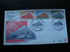 FRANCE - enveloppe 1er jour 22/1/1977 yt service n° 53 54 55 (cy19) french