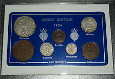 More details for 1934 gb great britain british vintage coin set (87th birthday gift birth year)