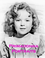 Shirley Temple 8x10 Lab Photo 1930s Young Child Star Curly Blonde Cutie Portrait