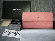 Chanel Wallet Beautiful pink Flap Quilted luxury Lambskin classic ~ New in box