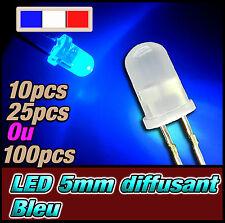 421D# LED 5mm bleu diffusant ronde - dispo 10, 25 ou 100pcs - blue
