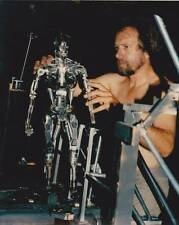 Lot Five - 20x30 color photo of the Terminator skeleton model with animator