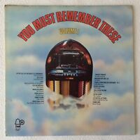 VARIOUS ARTISTS ~ YOU MUST REMEMBER THESE VOLUME I ~ 1972 US 16-TRACK VINYL LP
