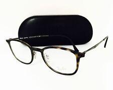 NEW Rayban Eyeglasses LightRay Titanium  RB 7051 5200 Tort/Gun 47•20•140 W/Case