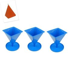 "Proops Set x 3 Pyramid Shaped Candle Moulds with Stand, 4"" Tall. UK Made. S7589"