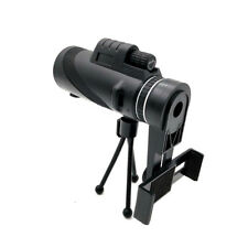 40X60 PROTABLE HD MONOCULAR HUNTING CAMPING TELESCOPE + PHONE CLIP TRIPOD _GG