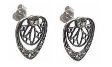 Ohrringe 925 Silber Swarovskikristalle eleganter Jugendstil Earrings ohrgl14