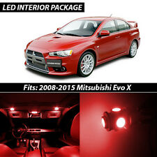 2008-2015 Mitsubishi Lancer Evolution X Red Interior LED Lights Package Kit