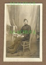 WWI Photo Postcard DOUGHBOY US Army Soldier MG INFANTRY Wrapped Leggings c 1918