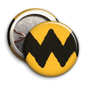Charlie Brown T-Shirt Pattern - Button Badge - 25mm 1 inch Humour / Parody Style